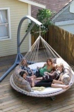 Best backyard hammock decor ideas 25