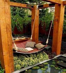 Best backyard hammock decor ideas 35