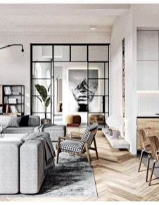 Charming gray living room design ideas for your apartment 01