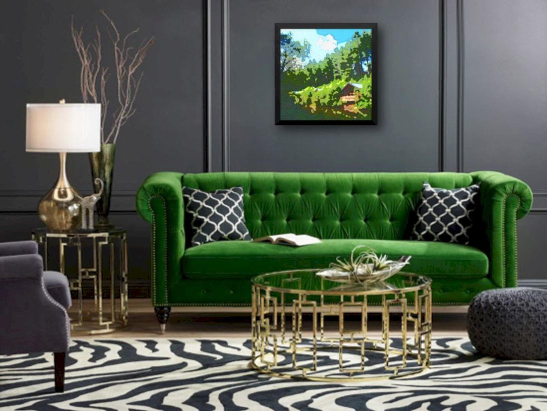 Charming gray living room design ideas for your apartment 08