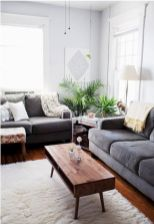 Charming gray living room design ideas for your apartment 09