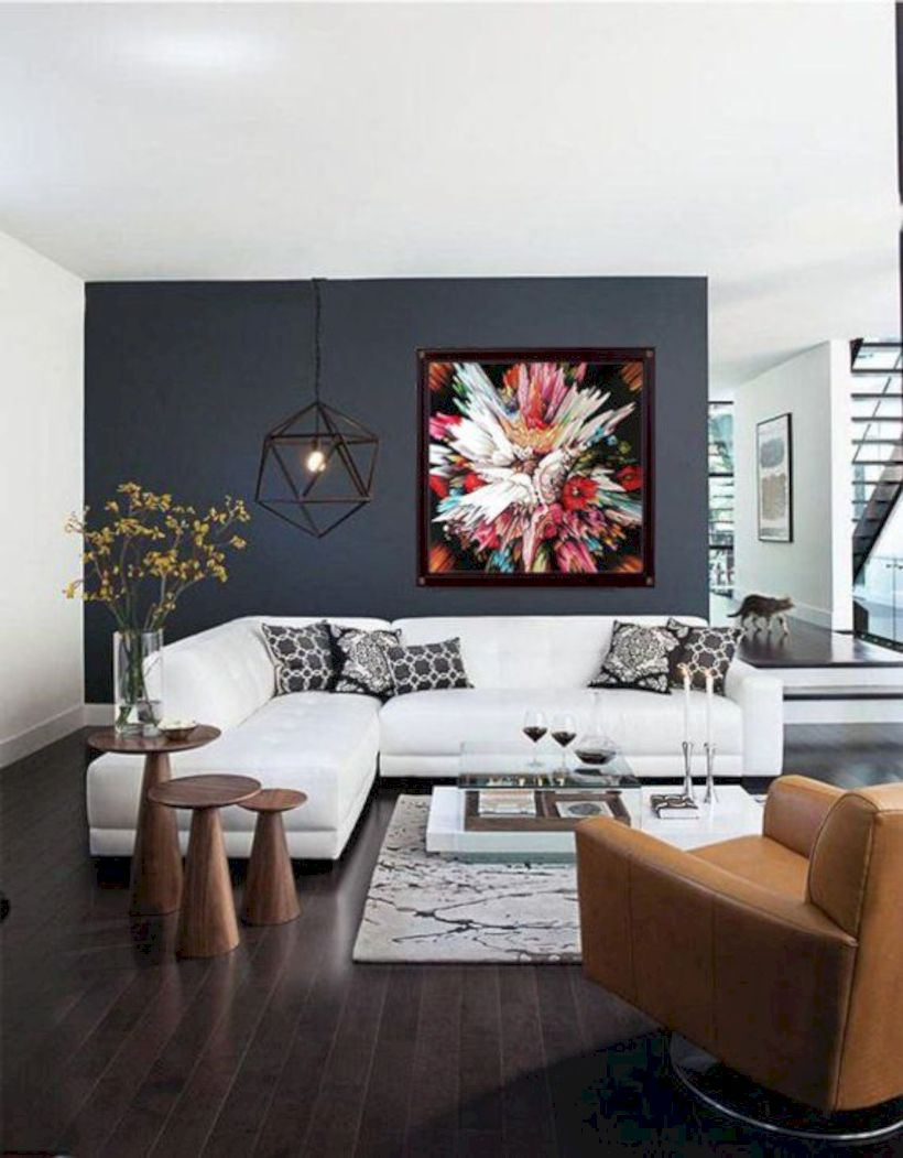 Charming gray living room design ideas for your apartment 11