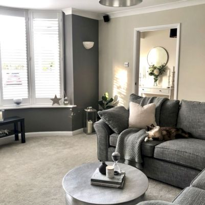 Charming gray living room design ideas for your apartment 12