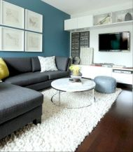 Charming gray living room design ideas for your apartment 21