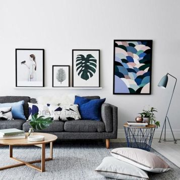 Charming gray living room design ideas for your apartment 26