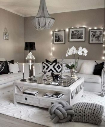 Charming gray living room design ideas for your apartment 30