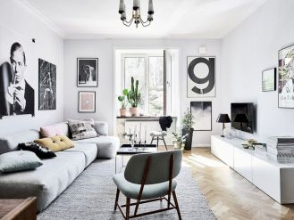 Charming gray living room design ideas for your apartment 37