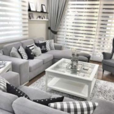 Charming gray living room design ideas for your apartment 46