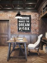 Colorful brick wall design ideas for home interior ideas 17