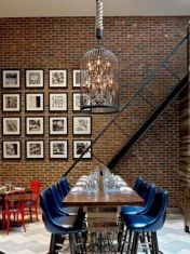 Colorful brick wall design ideas for home interior ideas 19