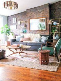 Colorful brick wall design ideas for home interior ideas 21
