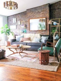 Colorful brick wall design ideas for home interior ideas 21