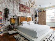 Colorful brick wall design ideas for home interior ideas 26