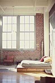 Colorful brick wall design ideas for home interior ideas 37