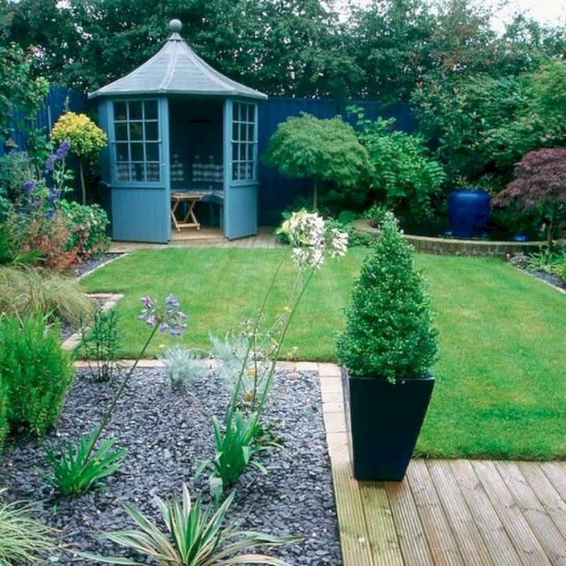 Comfy green country backyard remodel ideas 36