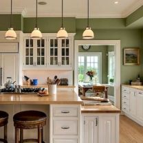 Cozy color kitchen cabinet decor ideas 01