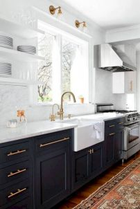 Cozy color kitchen cabinet decor ideas 06