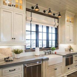Cozy color kitchen cabinet decor ideas 29
