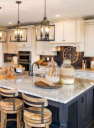 Cozy color kitchen cabinet decor ideas 36