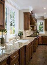 Cozy color kitchen cabinet decor ideas 37