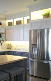 Cozy color kitchen cabinet decor ideas 40