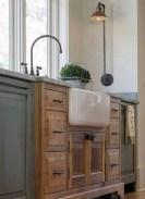 Cozy color kitchen cabinet decor ideas 43