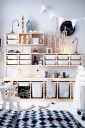 Cute diy bedroom storage design ideas for small spaces 15