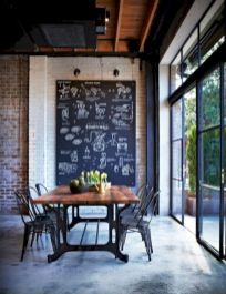 Elegant industrial metal chair designs for dining room 01
