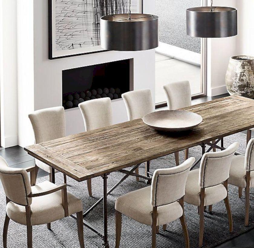 Elegant industrial metal chair designs for dining room 03