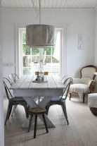 Elegant industrial metal chair designs for dining room 10