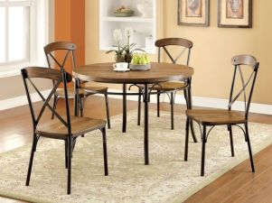 Elegant industrial metal chair designs for dining room 11