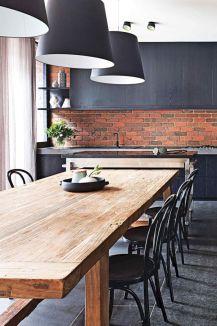 Elegant industrial metal chair designs for dining room 19