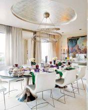 Elegant industrial metal chair designs for dining room 37