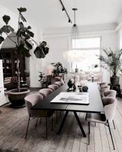 Elegant industrial metal chair designs for dining room 38