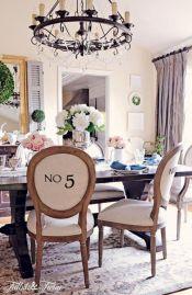 Elegant industrial metal chair designs for dining room 43