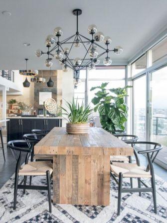 Elegant industrial metal chair designs for dining room 54