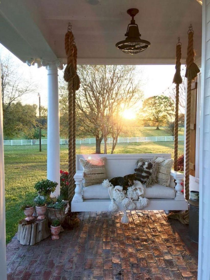 Fantastic front porch decor ideas 32