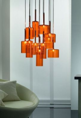 Fascinating colorful glass pendant lamps ideas for your kitchen 17