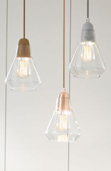 Fascinating colorful glass pendant lamps ideas for your kitchen 20