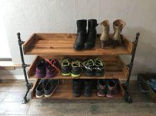Luxury antique shoes rack design ideas 10
