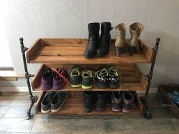 Luxury antique shoes rack design ideas 10