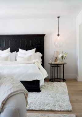 Modern tiny bedroom with black and white designs ideas for small spaces 08