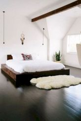 Modern tiny bedroom with black and white designs ideas for small spaces 22