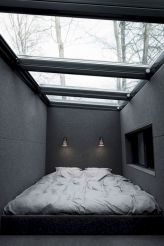 Modern tiny bedroom with black and white designs ideas for small spaces 24