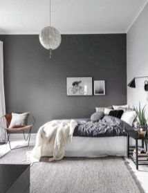 Modern tiny bedroom with black and white designs ideas for small spaces 29