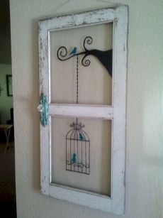 Newest diy vintage window ideas for home interior makeover 44