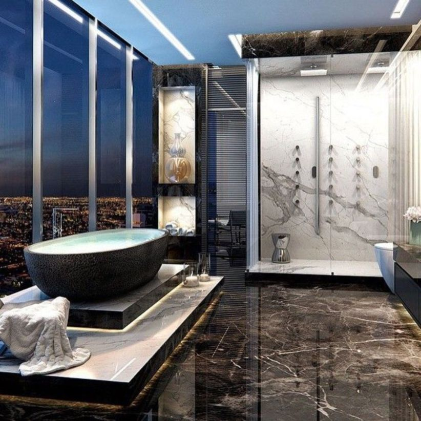 Perfect master bathroom design ideas for small spaces 32