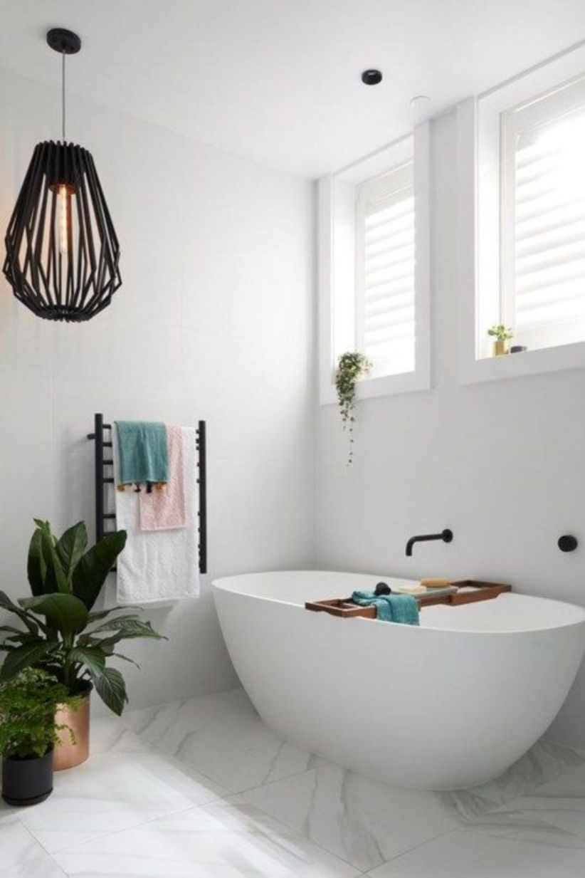 Perfect master bathroom design ideas for small spaces 36