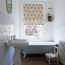 Shabby chic blue shower tile design ideas for your bathroom 02