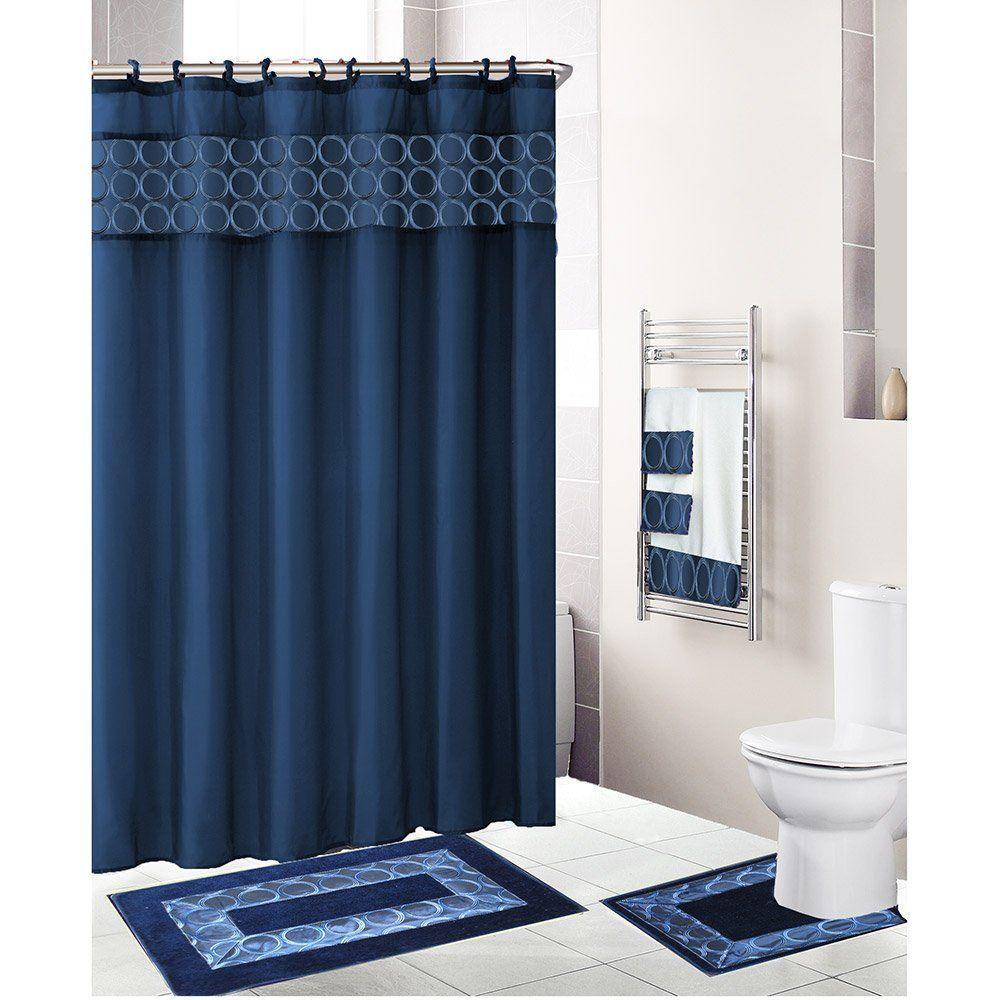 Shabby chic blue shower tile design ideas for your bathroom 03